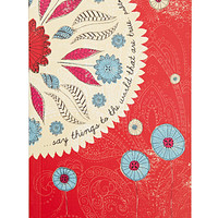 FOREVER 21 Floral Inspiration Journal Cream/Red One