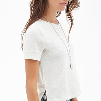 Heathered Knit Tee