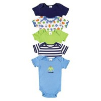 Luvable Friends™ Infant Boys' 5 Pack Monster Bodysuit Set - Blue