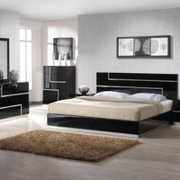 Black Unique Modern Bedroom Set - Opulentitems.com