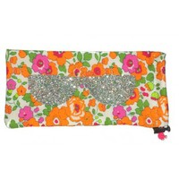 Liberty Print Fabric Betsy-Ann Orange Glasses Case - Sous les toits de Paris