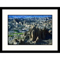 Great American Picture Badlands Aerial - New Mexico, South Dakota Framed Photograph - Jack Jr Hoehn - Decor