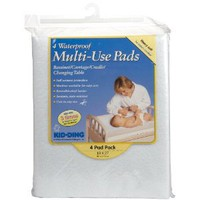 "Kid-ding Waterproof Multi-Use Pads - 18"" x 27"" - 4 Pack"