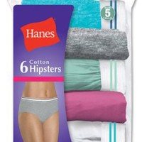 Hanes Women's Cotton Hipster Assorted 5