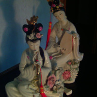 StatuesFigurinesVintageVintage Asian by augiesvintagefinds on Etsy