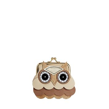 Frilly Owl Clip Coin Purse