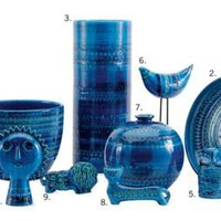 Blue ceramic collection