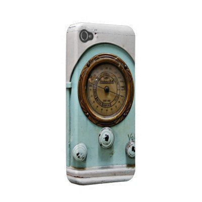 iphone4-4s case vintage short wave radio iphone 4 cases from Zazzle.com