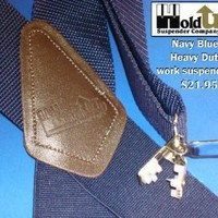 "2"" wide Navy Blue Holdup Suspenders"