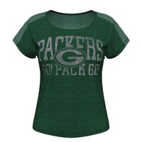 Majestic Green Bay Packers Play For Me Dolman Tee - Women's