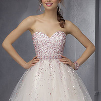 Mori Lee Short Strapless Dress