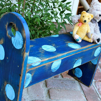 Wooden Bench - Shabby - Cottage - Country Chic - Distressed home decor french cottage