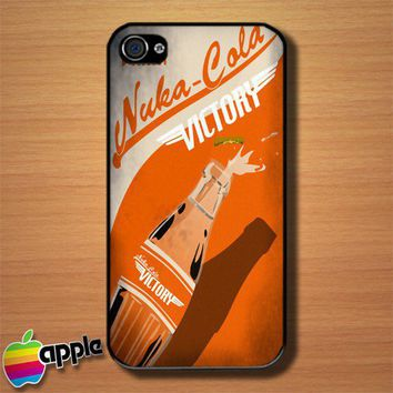 Orange Drink Nuka Cola Victory Custom iPhone 4 or 4S Case Cover | Merchanstore - Accessories on ArtFire