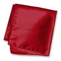 Men`s 16 Inch Silk Pocket Square by Elite Solid in Your Choice of Colors