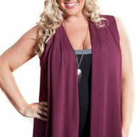 Sealed With A Kiss Designs Plus Size Perfect Layer Knit Vest (Harvest Shades)