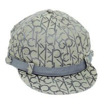 CALVIN KLEIN NEWSBOY APPLE CAP SHORTY HAT GATSBY GREY
