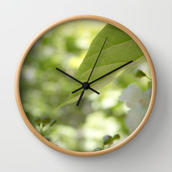 green moments  Wall Clock by VanessaGF