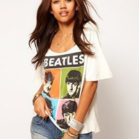 Worn By | Worn By - Beatles - T-shirt stile pop art su ASOS