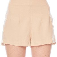 Dartsy High-Waisted Shorts in Light Taupe :: tobi
