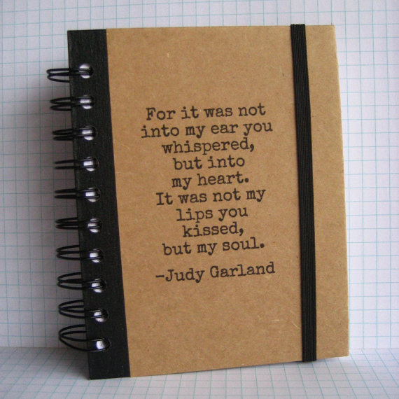 Journal Quote Notebook Judy Garland Handmade by Zany by zany