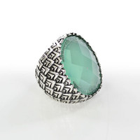 Faceted Faux Stone Ring
