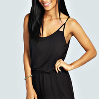 Lauren Cut Out Strappy Jersey Playsuit