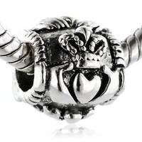Pugster Irish Claddagh Friendship And Love Bead- Fit Pandora Charm &amp; Bracelet