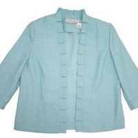 Alfred Dunner Love At First Sigh 3/4 Sleeve Open Front Blazer
