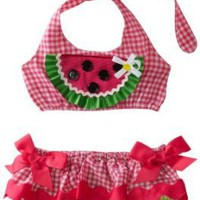 Mud Pie Baby-girls Newborn Lil` Chick Watermelon Bikini