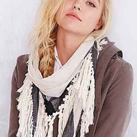 Tassel-Border Triangle Scarf - Urban Outfitters