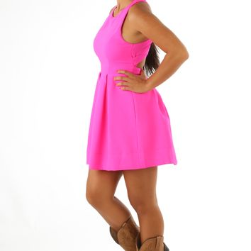 The Katrina Dress: Fuchsia
