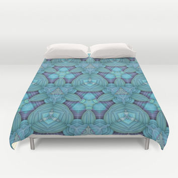 Blue & Purple One - Duvet Cover by Lyle Hatch | Society6