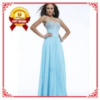 Factory Direct Classical Strapless Light Blue Dress Evening Wl1817 - Buy Dress Evening,Light Blue Dress Evening,Strapless Light Blue Dress Evening Product on Alibaba.com
