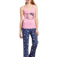 Hello Kitty Women's Hk Enchanting Blues Tank And Pants Pajama Set