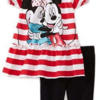 Disney Toddler Girls Mickey And Minnie Pant Set