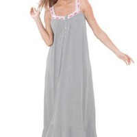 Dreams & Co® Plus Size Long sleeveless knit gown
