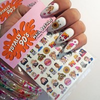 Totally 90's nail decals