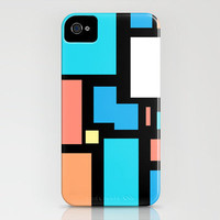 Modern Mondrian (black) iPhone Case by Shawn Terry King | Society6