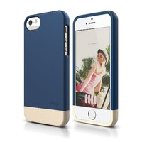 elago S5 Glide Case Limited-Edition for iPhone 5/5S - eco friendly Retail Packaging (Jean Indigo / Champagne Gold)