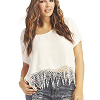 Boho Fringe Open Back Blouse | Wet Seal+
