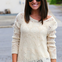 """My """"Go-To"""" Sweater {Ivory}"""