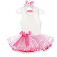 Mud Pie Tiny Dancer Tutu Dress, Pink, 0-6 Months
