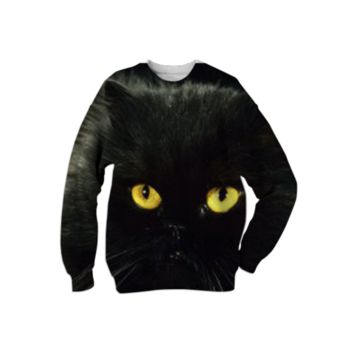 Black Cat Sweatshirt created by ErikaKaisersot | Print All Over Me
