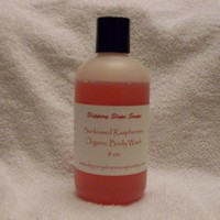 Sunkissed Raspberries Organic Body Wash  8oz by SlipperySlopeSoaps