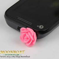 Super Cute Cellphone Earphone Rose PlugCellphone by moonboat