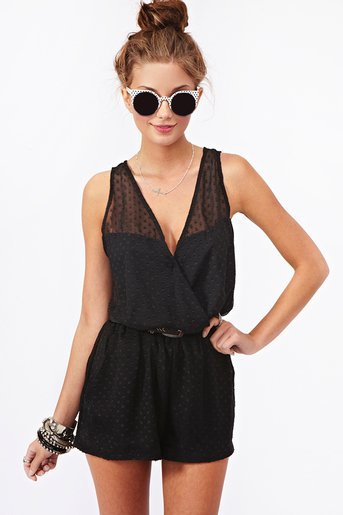 Seeing Spots Romper in  What's New at Nasty Gal