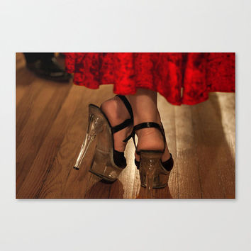 Dancing Women Shoes Red Dress Heals Romantic Sexy Feet lace Fine Art Photography Wall Decor Home Accent Gifts Under 50