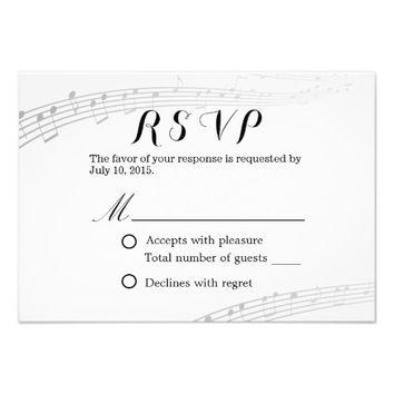 Simple and Elegant Musical Wedding RSVP