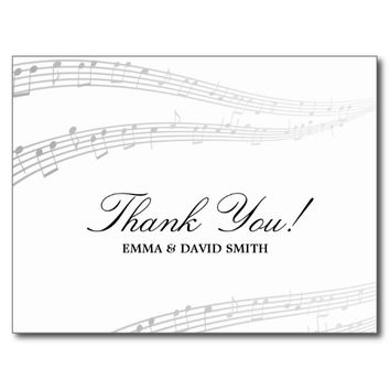 Simple and Elegant Musical Thank You Cards