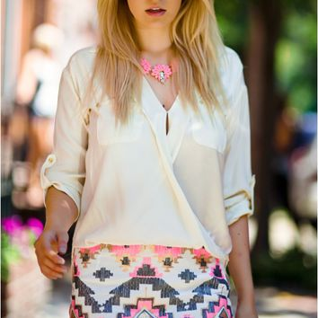 Tribal sequin skirt | Haute Rogue